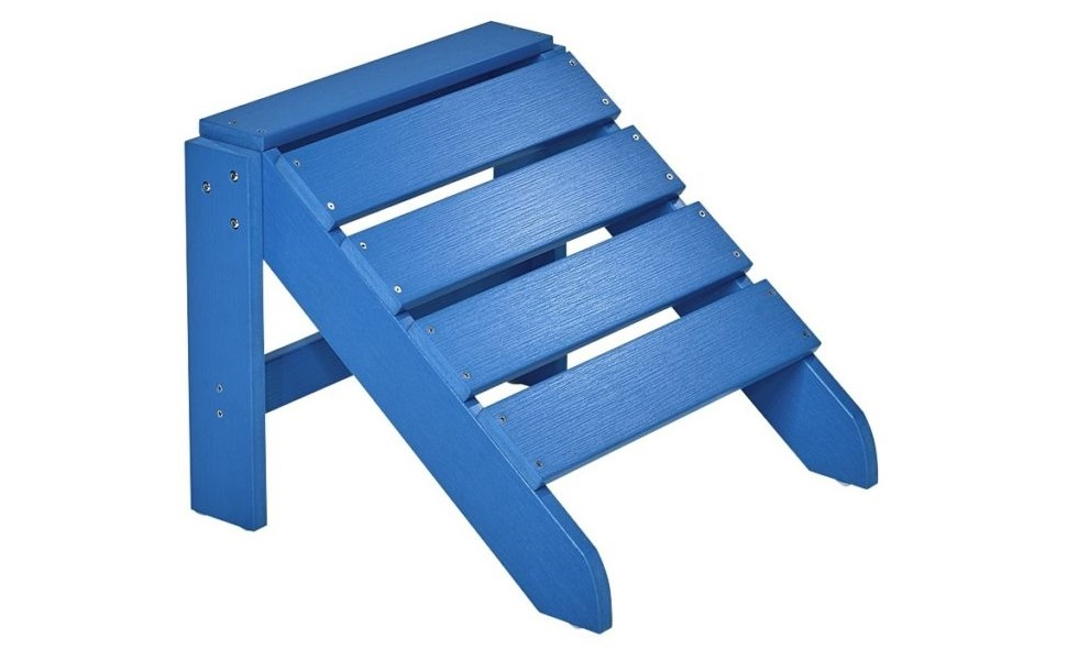 Westport-Chair//Sessel aus Polywood-Kunststoff Holzoptik, wetterfest, UV- und farbbest/ändig NEG Design Adirondack Stuhl Marcy blau