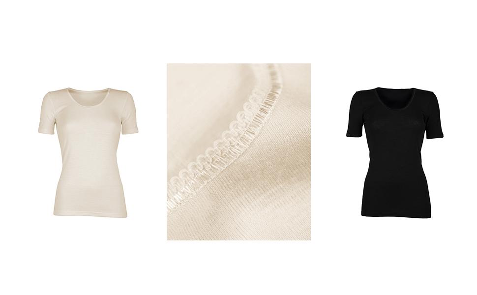 Dilling Langarmshirt f/ür Damen aus 100/% Bio-Merinowolle