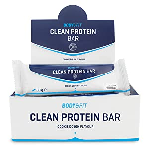 Body & Fit Clean Protein Bar Masa de galleta 720 gramos (12 barritas)