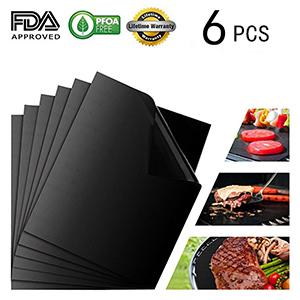 Grillmatte Antihaft BBQ Teflon Grill Folie Unterlage Schale Grillmatten 6er Set