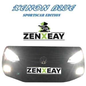Zenxeay H1 Xenon Blue Sportscar Edition Halogen Leuchtmittel 12v 55w Xenon Optik Super White Birne 2 Stück Auto