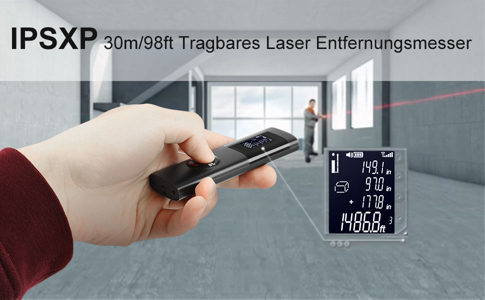 Laser entfernungsmesser ipsxp m ft usb aufladbar laser