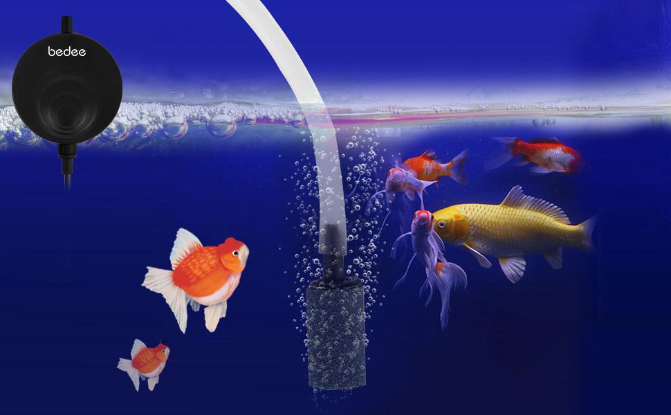 Aquarium Luftpumpe Pumpe Mini Sauerstoffpumpe Mini Oxygen Luftpumpe Sauerstoff für Aquarium Super Leise Luftpumpen Aquarienluftpumpen Schwarz
