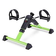Wei/ß) Mini Bike CARTKNIGHTS Heimtrainer Mini Fahrrad Arm und Beintrainer Pedaltrainer mit LCD-Monitor Widerstand Fahrradtrainer Fitness Fahrrad