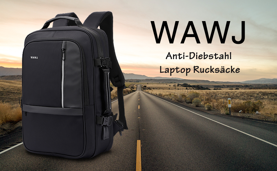 CUEVASjiamu Backpack 17 Inch Laptop Bag Classic Fashion Black Teens Boys Girls Multifunctional Leisure Backpack
