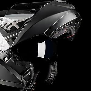 Westt Torque X Flip Up Helmet Full Face Motorcycle Helmet Double Visor Matt Black Scooter Ece Certified S 55 56cm Black Auto