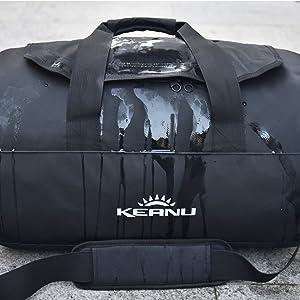 940cd0acf93ec Sporttaschen   Rucksäcke LKW Planen Reisetasche Sporttasche Keanu  wasserdicht Duffle 50L Rucksack tragbar