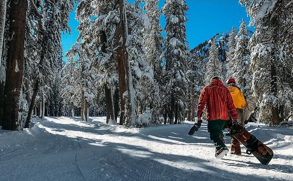 Wantdo Herren Ski Tr/ägerhose Outdoor Schneeisolierte Fleece