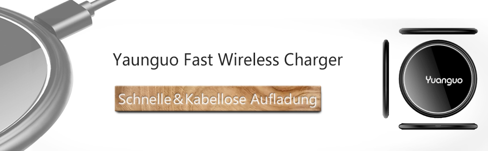 Fast Wireless Charger Yaunguo Qi Ladestation für iPhone