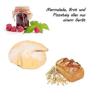 für Marmelade Pizzateig Brotteig