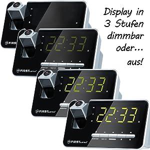 Wecker mit Projektor Lautstärke einstellbar dab Dimmbarer display ausschaltbarer display