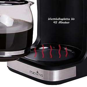 Kaffeemaschine mit Warmhalteplatte