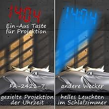 Radiowecker mit präziser Projektion auf Wand oder Decker