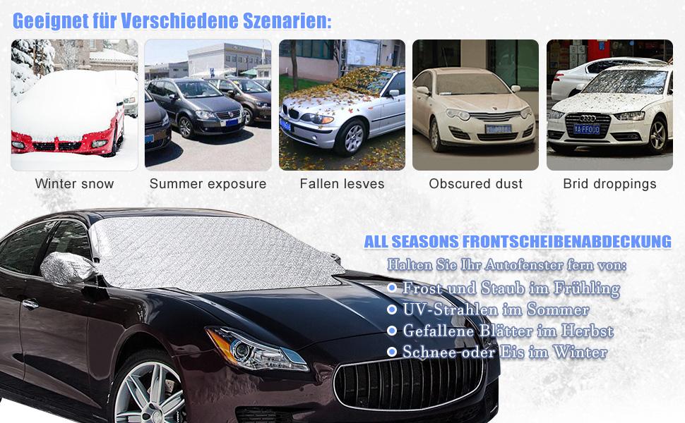Opel Meriva Magnet-Scheibenabdeckung für Winter und Sommer geeignet