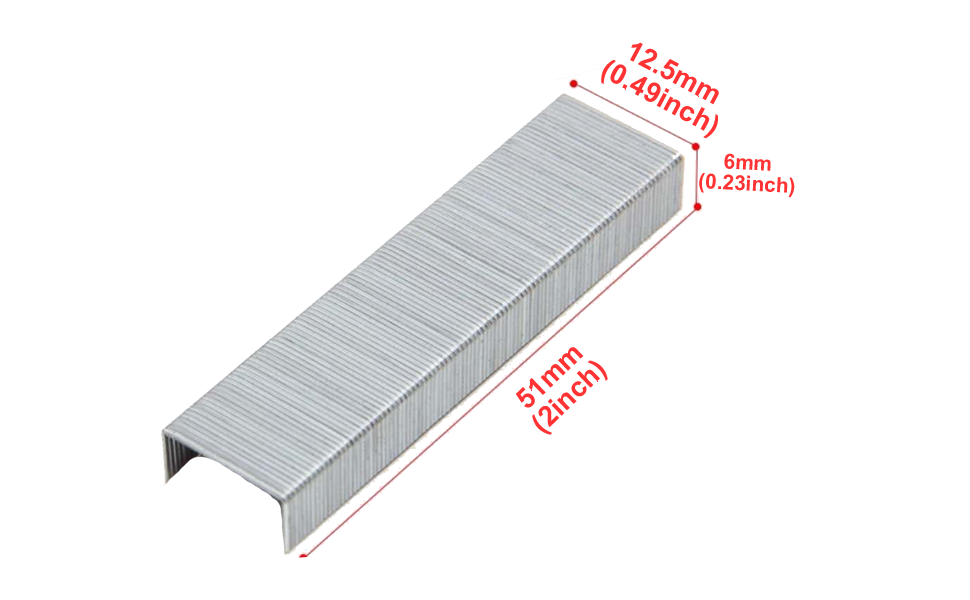 Standard 26//6 verzinkt 5000 St/ück RAPID Heftklammern Kupfer