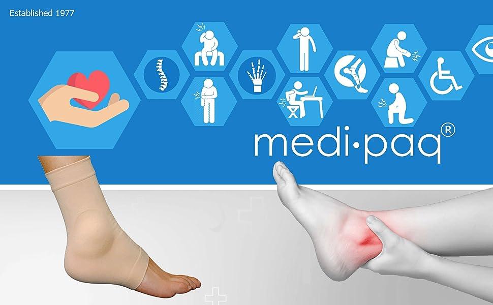 Gel Fersen & Spann Knöchel Stütze – Schützt seitlichen und Mittelknöchel, Vorstehende Knöchelknochen