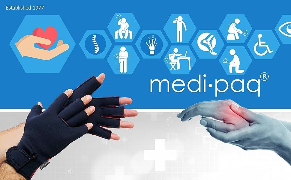 Befreiung Von Arthritis Und Carpal Tunel Syndrom Medipaq/® Weiche Beruhigende Therapie Handschuhe Beruhigt Schmerzende H/ände Mit Heilender Hitze