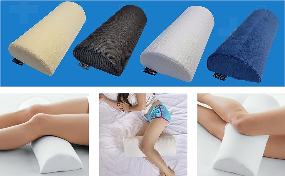 halbmond memory schaum polster kissen f r nacken unterer r cken knie beine f e. Black Bedroom Furniture Sets. Home Design Ideas