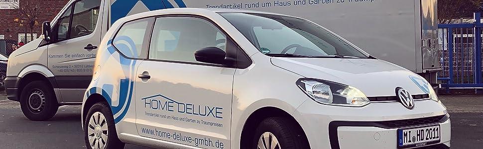 Home Deluxe GmbH Trendartikel Luxus Garten Wellness Sanitär Terrasse Wohnzimmer Badezimmer Fuhrpark