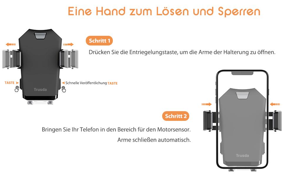 Automatisch Handy Autohalterung Auto Vent Halterung Elektronik