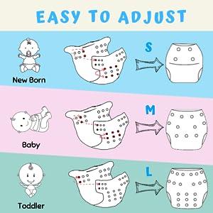 FLAMINGO Size-S baby badehose wasserdichte Einstellbare Schwimmhose Baby InnoBeta Schwimmwindel wiederverwendbare f/ür Neugeborene 0-12 Monate