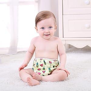 InnoBeta Schwimmwindel wiederverwendbare f/ür Neugeborene 0-12 Monate FLAMINGO Size-S baby badehose wasserdichte Einstellbare Schwimmhose Baby