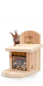 Aniforte Eichhörnchen Futterhaus