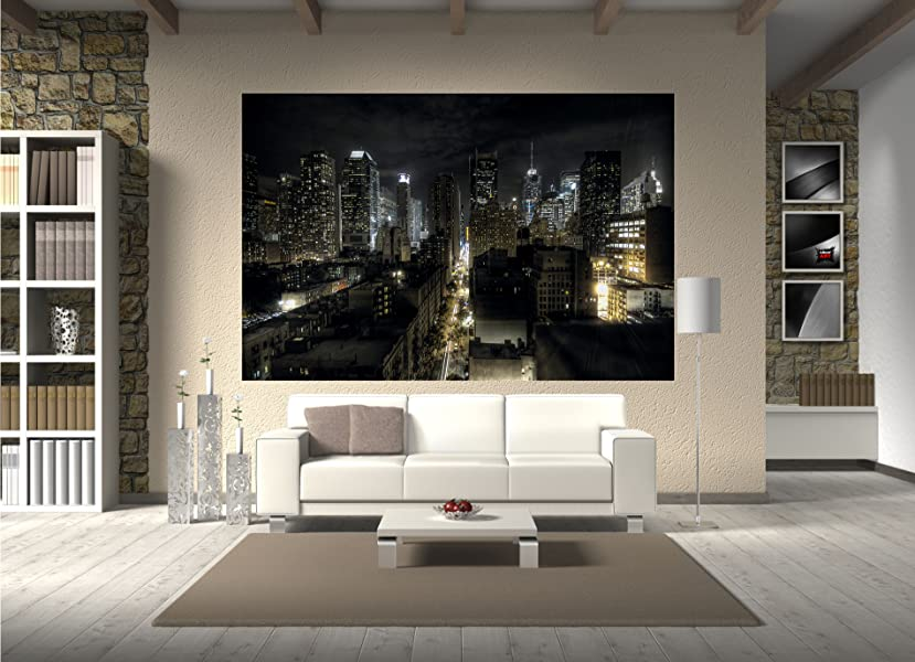 fototapete manhattan new york skyline nacht wandbild dekoration amerika wanddeko usa motivtapete. Black Bedroom Furniture Sets. Home Design Ideas