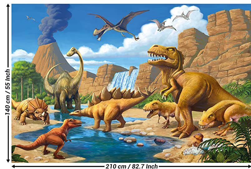 great-art Fototapete Kinderzimmer Abenteuer Dinosaurier