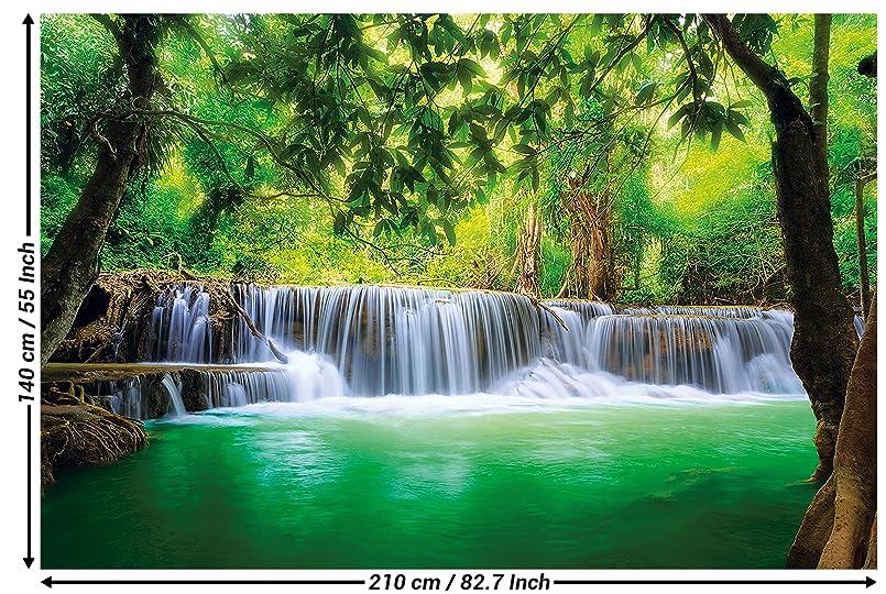 GREAT ART Fototapete – Wasserfall Feng Shui – Wandbild Dekoration Natur  Dschungel Landschaft Paradies Urlaub Thailand Asien Wellness Spa Relax ...