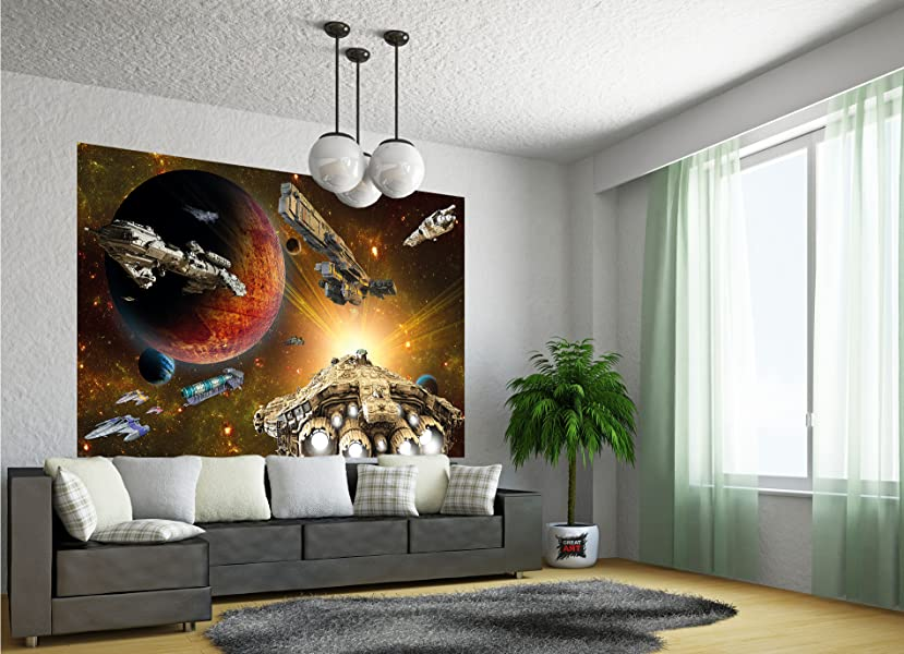 fototapete galaxy adventure wandbild dekoration raumfahrt mission space shuttle science. Black Bedroom Furniture Sets. Home Design Ideas