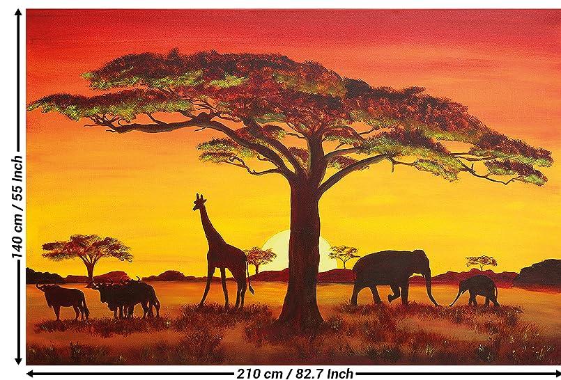 great art fototapete sonnenuntergang afrika wandbild 210x140 cm 5 teilige afrikanische. Black Bedroom Furniture Sets. Home Design Ideas