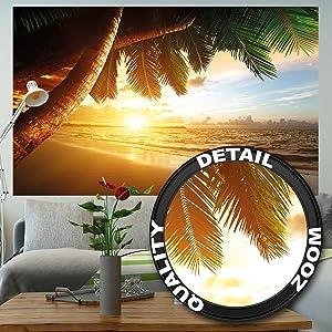 210 X 140 Cm   5 Teile ✓ Fototapete Strand Und Meer Für Ihre Raumgestaltung  ✓ Ein Bezaubernder Ausblick Wie Im Traumurlaub Als Wandtapete.