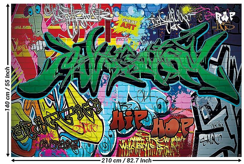 Graffiti Im Kinderzimmer | Great Art Fototapete Graffiti Wand 210 X 140 Cm 5 Teillige