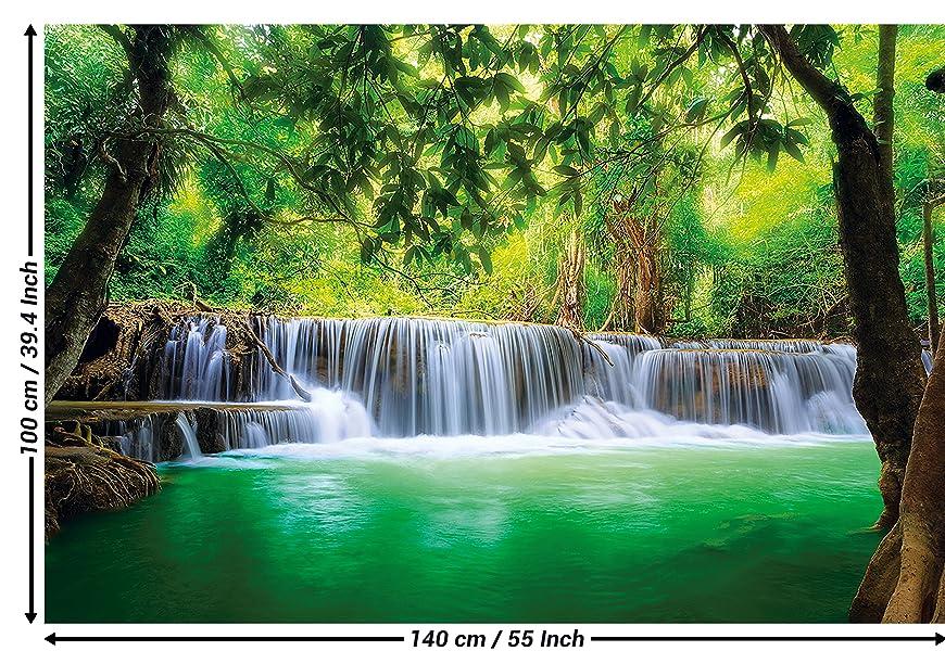 Poster wasserfall feng shui wandbild dekoration natur dschungel landschaft paradies - Dekoration dschungel ...