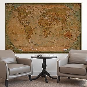 Amazon.de: Historische Weltkarte Poster XXL - Wandbild