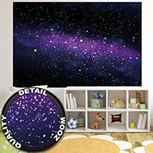 Poster Sterne - Wandbild Dekoration Kinderzimmer Weltraum