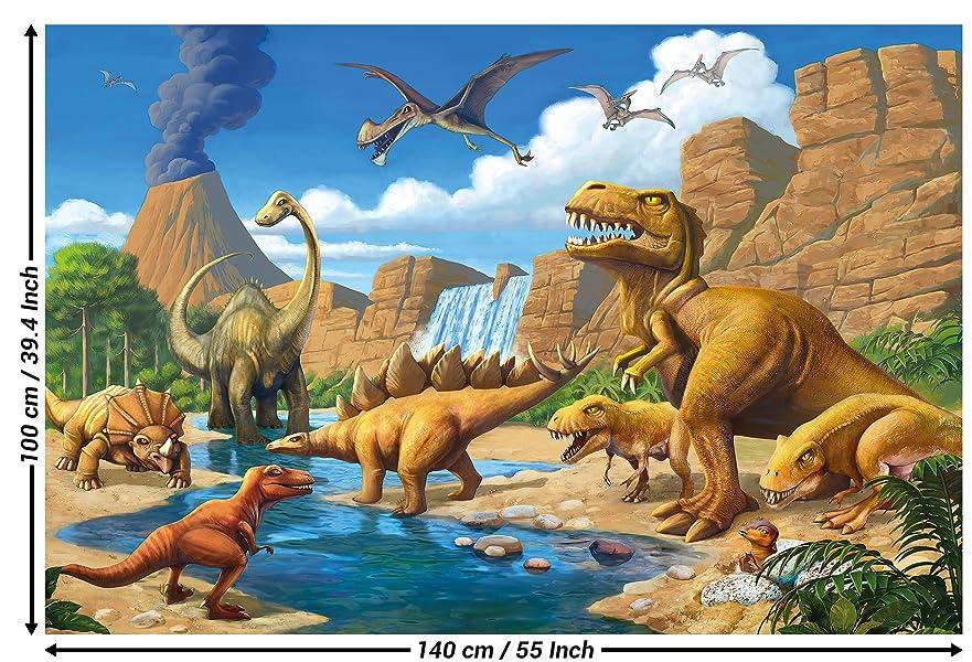 Poster Kinderzimmer Abenteuer Dinosaurier - Wandbild Dekoration ...