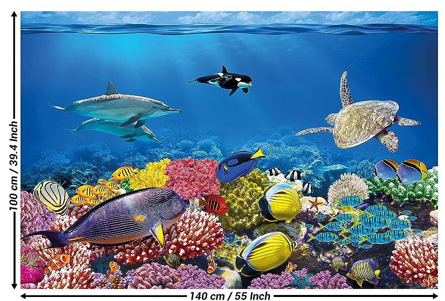 Poster Kinderzimmer Aquarium Wandbild Dekoration Unterwasserwelt ...