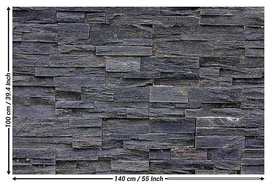 Poster Mauer Steine Schwarze Stein Wand Wandbild Dekoration Wanddekoration  Steinmauer Motiv Deko | Wandposter Fotoposter Wanddeko Bild Wandgestaltung  By ...