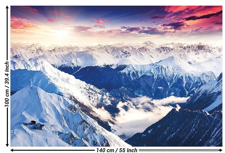 Great art poster alpen panorama gebirge 140cm x 100cm xxl wandposter berge naturlandschaft - Alpen dekoration ...