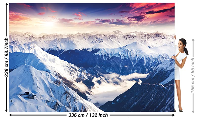 Great Art Fototapete Alpen Panorama 336 X 238 Cm 8 Teiliges