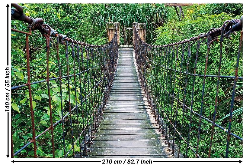 Fototapete h ngebr cke wandbild dekoration dschungel landschaft natur adventure br cke regenwald - Dekoration dschungel ...