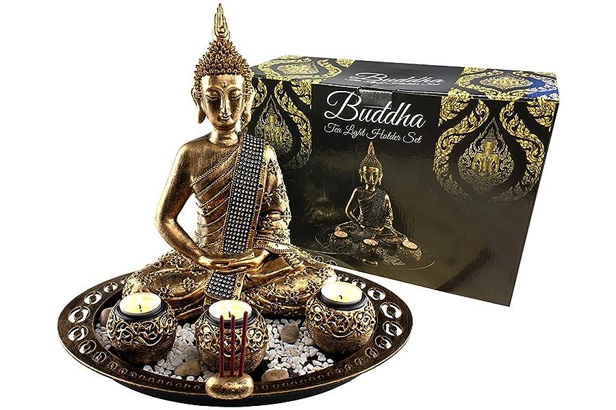 edle asiatische deko fr mehr entspannung great art buddha dekoration set - Buddha Deko Wohnzimmer