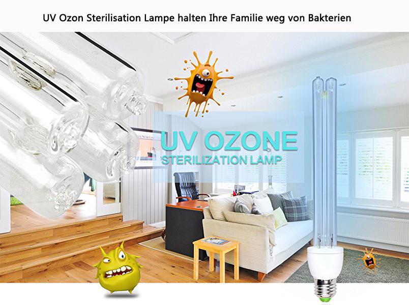 Keimtötende Sterilisation Lampe Uv Rate Mit Leuchten Antibakteriell 220 Brightinwd 99Desinfektion 15 Led E27 Sockel V W Ozon DIWHYE29