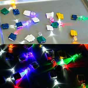 500st LED Leuchtdioden runder Kopf 2Pin Sortierte Dioden Birnen LED Lampe Kasten