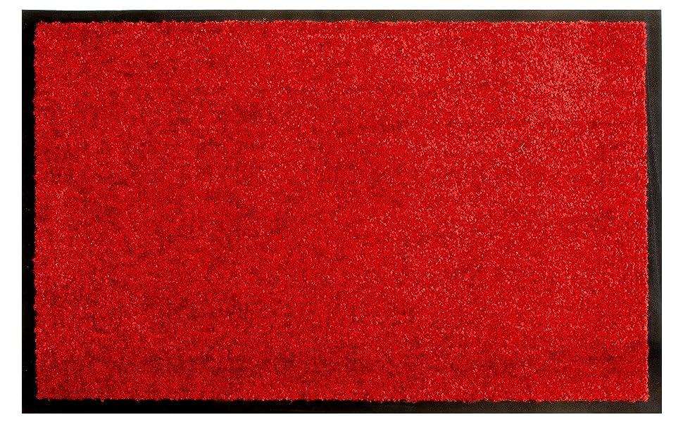 Rot 60x90 cm Fu/ßmatte Rutschfest Schmutzfangmatte T/ürvorleger BRASIL Sauberlaufmatte Waschbar f/ür Innen und Au/ßen Geeignet