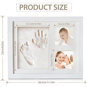 Baby Handabdruck und Fußabdruck, Migimi Baby Holz