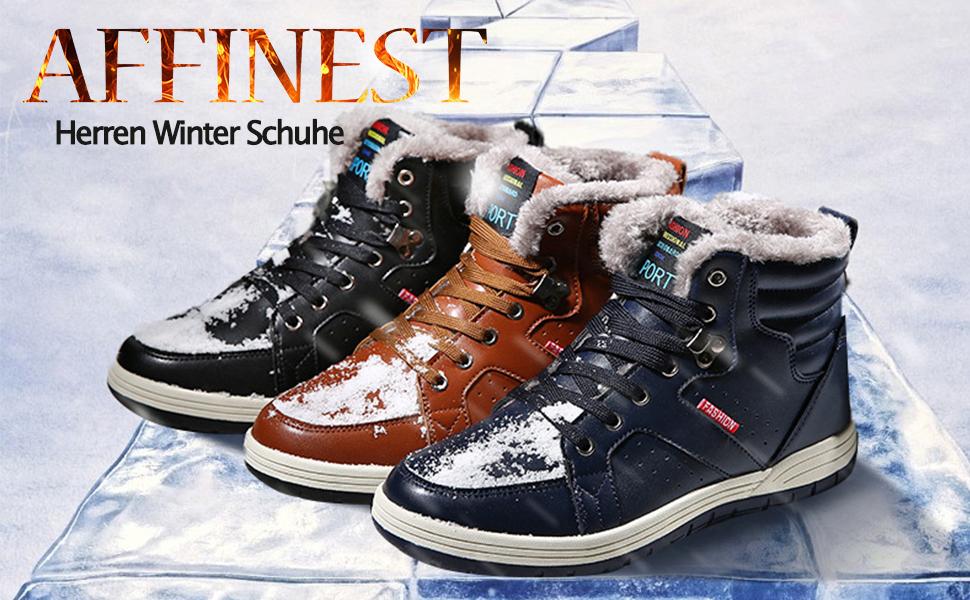 d256ac12e441 AFFINEST Winter Warm Schuhe Sneakers High-Top Basketball Turnschuhe ...