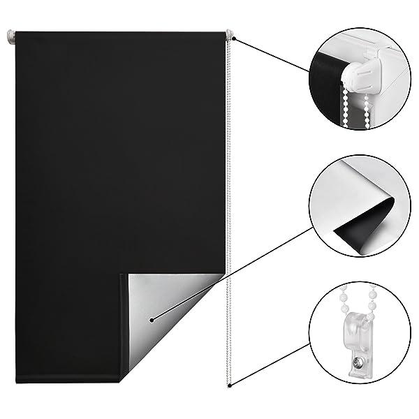 amazon rollos ohne bohren elegant duorollo fr fenster klemmfix ohne bohren wandmontage balkontr. Black Bedroom Furniture Sets. Home Design Ideas